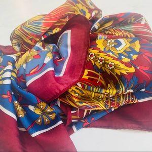 Kule 100 % SILK Scarf Multicolored Floral Oblong